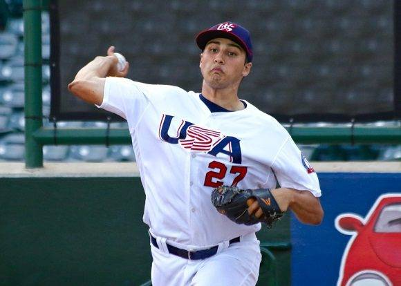 Alex Faedo. Foto: www.d1baseball.com