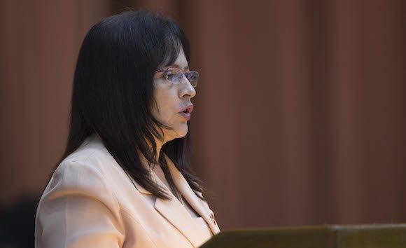 La diputada Grisel Castro Alfonso, presidenta de la Comisión de Asuntos Económicos. Foto: Ladyrene Pérez/ Cubadebate