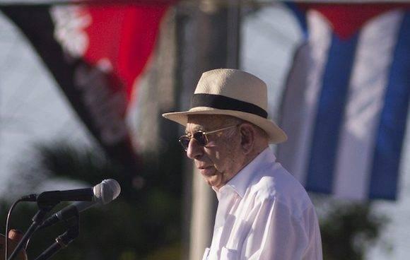 José Ramón Machado Ventura a cargo de las palabras centrales. Foto: Ismael Francisco/ Cubadebate