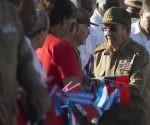 Raúl Castro en la Plaza de la Revolución Serafín Sánchez, de Sancti Spíritus. Foto: Ismael Francisco/ Cubadebate
