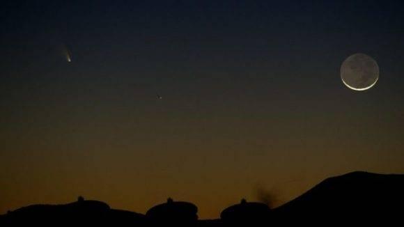 La luna en cuarto menguante ayudará en la observación de los meteoritos. Foto: Getty.
