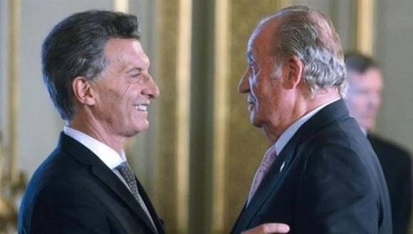 Macri, junto al Rey de España. | Foto: Día a Día.