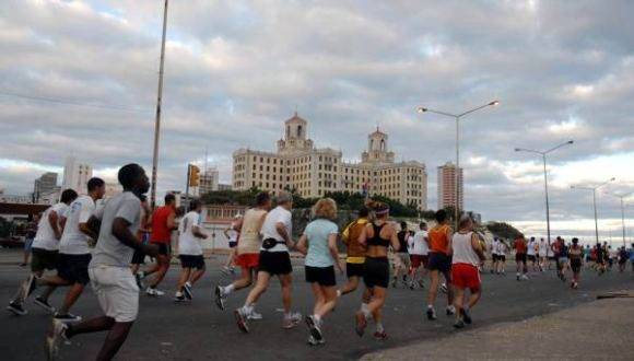 Maratón deportivo en La Habana. Foto: Archivo.