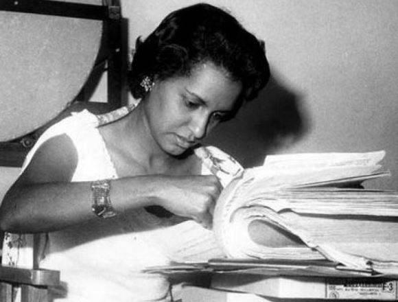 La joven santiaguera formó parte del equipo de periodistas de la revista Bohemia. Foto: Archivo.