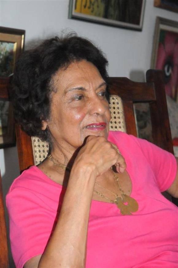 Matha, testigo excepcional de los sucesos del 26 de julio de 1953 en Santiago de Cuba. Foto: Vicente Brito/ Escambray.