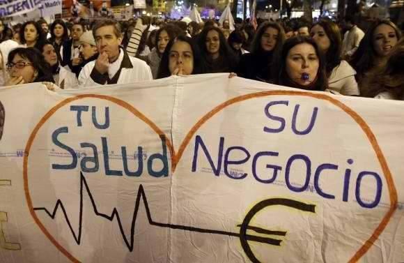 El descontento en España con la privatización de la salud. Foto: Reuters.