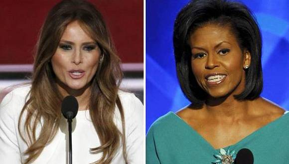 Melania Trump copia discurso de Michelle Obama.