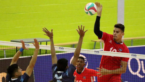 El equipo cubano de voleibol irá a la semifinal del Torneo Continental NORCECA sub-21. Foto: Norceca.
