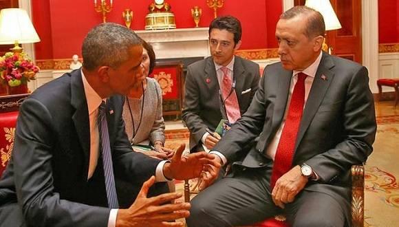 El presidente de Estados Unidos, Barack Obama, con su homólogo turco Recep Tayyip Erdogan. Foto: DPA.