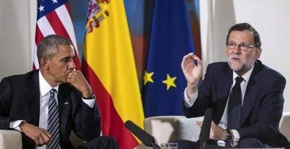 El presidente del Gobierno en funciones, Mariano Rajoy (d), junto al presidente de EEUU, Barack Obama (i). /EFE