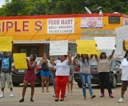 El asesinato de Alton Sterling desata las protestas en Luisiana. Foto tomada de Twitter.