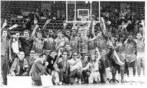 Equipo Cuba de Baloncesto en Munich 1972.