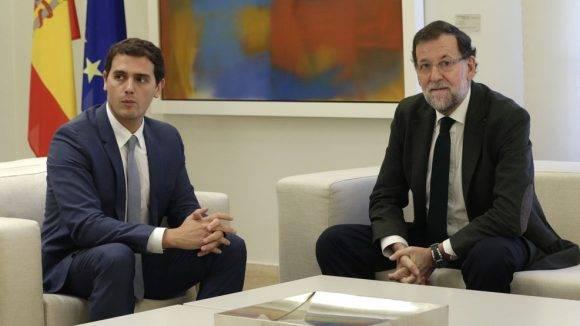 Albert Rivera y Mariano Rajoy. Foto: EFE.