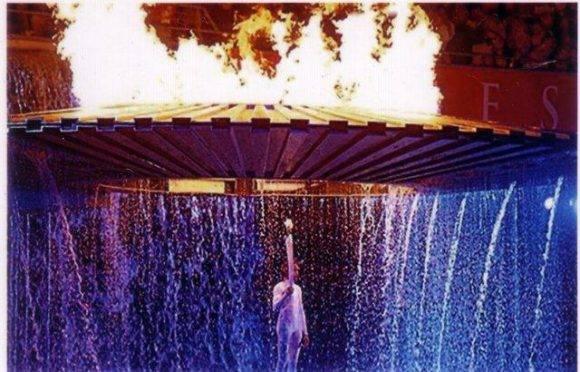 Cathy Freeman en Sydney 2000. Foto: Archivo.
