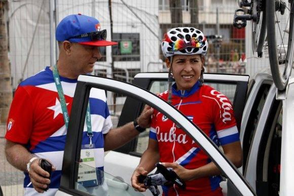 Arlenis y su entrenador en Rio 2016. Foto: roberto Morejón