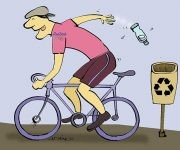 Ciclismo ecológico. Autor: Adán / Cubadebate