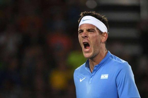 Del Potro eliminó a Djokovic. Foto: AFP