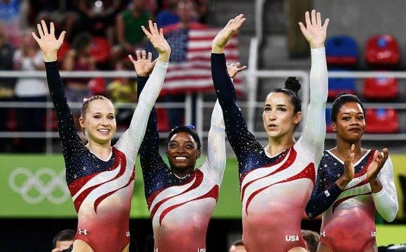 EEUU oro en la Gimnasia Femenina