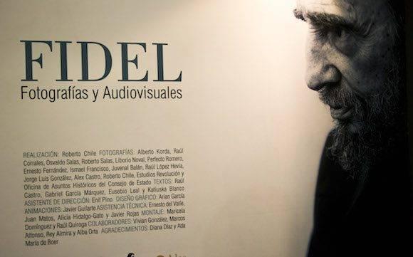 Exposición fotográfica dedicada a Fidel. Foto: Ismael Francisco/ Cubadebate