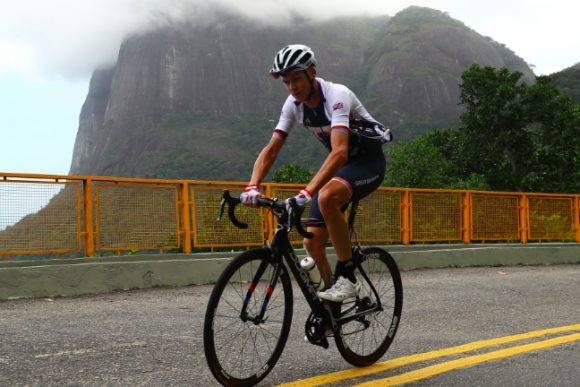 El británico Chris Froom entrenando en Rio de Janeiro días antes de los Juegos. Foto Getty Images