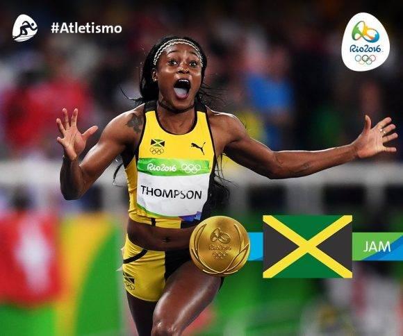 Elaine Thompson Campeona Olímpica de 100 m