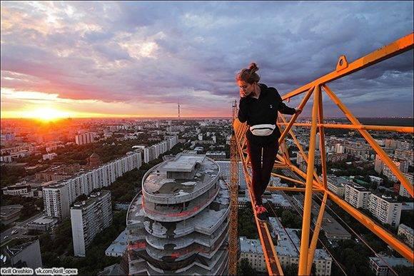 En la azotea del hotel Radisson, Moscú.