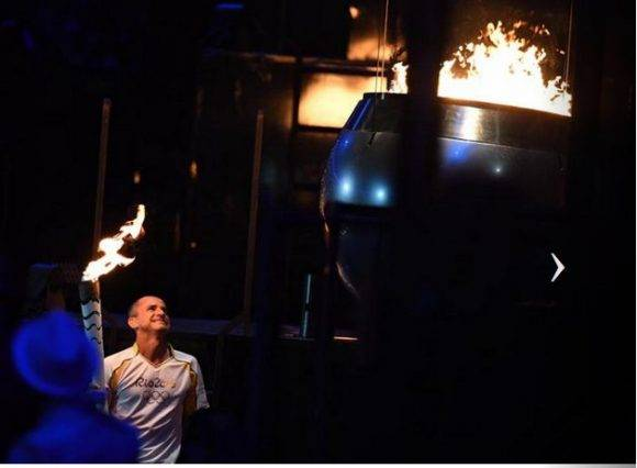Encendido del pebetero de Rio 2016. Foto; Ricardo López Hevia / Granma