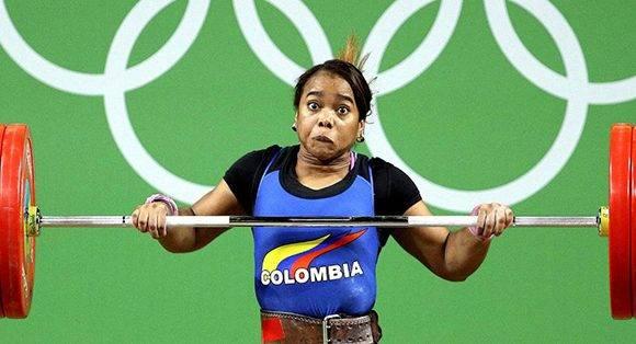 Esfuerzo titánico de Leidy Solis, de Colombia.