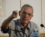 Eusebio Leal en un conversatorio en el Pabellón Cuba el pasado jueves 25 de agosto. Foto: Alexis Rodríguez.