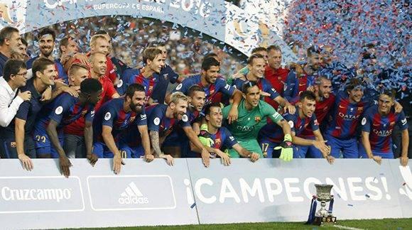 El Barcelona conquista la Supercopa de España. Foto tomada de Marca.