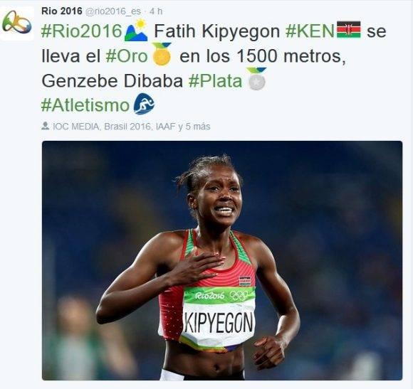Final de 1500 m femenino
