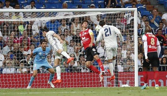 El canterano Morata marcó su primer gol después del regreso al Real Madrid. Foto: Dani Sánchez/ AS.
