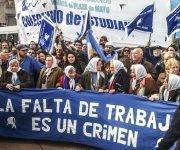 Hebe en la Plaza de Mayo. Foto: Kaloian
