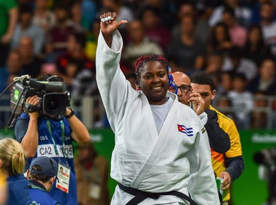 Idalys Ortiz se convirtió en triple medallista olímpica y ahora se retirará por un tiempo para convertirse en madre. Foto: Marcelino Vázquez/ ACN.