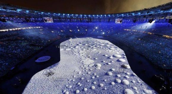 Ceremonia inaugural de Rio 2016. Foto: Reuters.