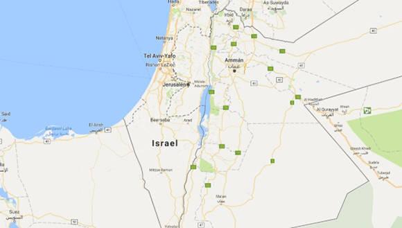 Israel Palestina mapa Google