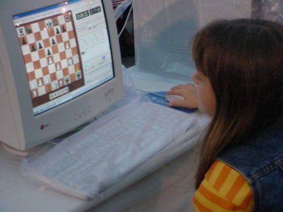 La computación también en el estudio del ajedrez.