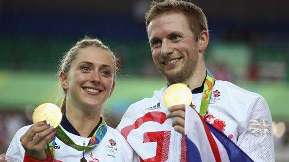 Laura Trott y Jason Kenny han ganado cinco medallas de oro en Río 2016. Foto: Getty.