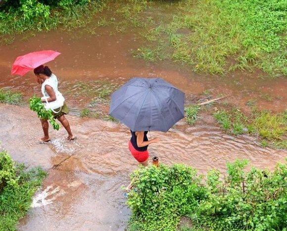 Llueve ininterrumpidamente en el municipio especial Isla de la Juventud hace más de 48 horas. Cuba, 30 de agosto de 2016.   ACN   FOTO/Ana Ester ZULUETA/sdl