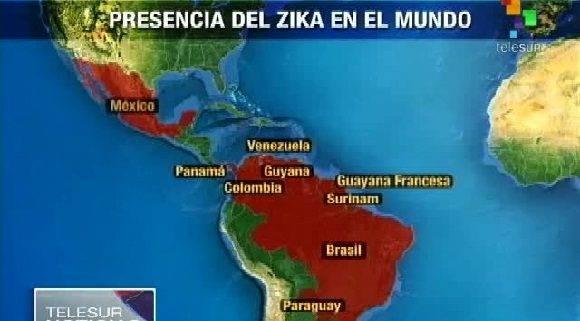 Lugares donde Zika