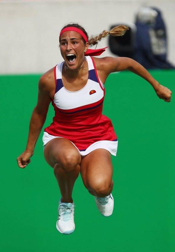 Mónica Puig, Puerto Rico, Campeona Olímpica del Tenis, primer Oro de Puerto Rico en la historia de los JJOO.