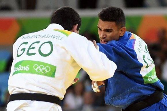 El judoca de 73 kg Magdiel Estrada perdió frente al georgiano Lasha Shavdatuashvil. Foto: Ricardo López Hevia/ Granma.