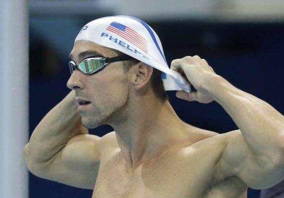 Phelps en el relevo 4x100 en Rio. Foto: AP