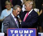 Nigel Farage y Donald Trump en EEUU