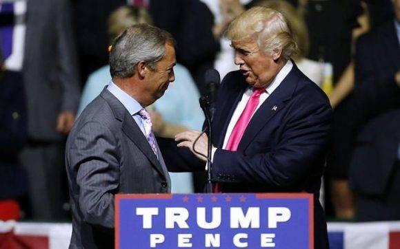 Nigel Farage y Donald Trump en EEUU. Foto: The Telegraph.