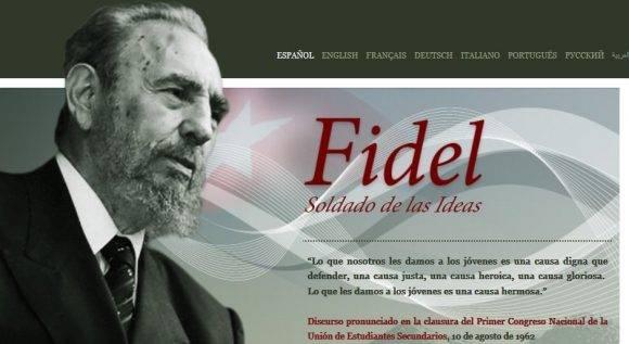 Fidelcastro.cu is Fidel New Online Site