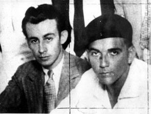 Raúl Roa y Pablo de la Torriente Brau (derecha).