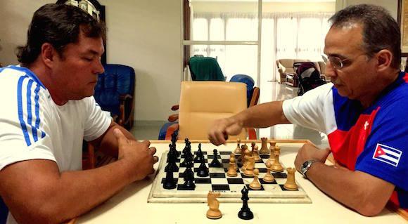 Partida ente Ramón y Tony el 16 de julio último.
