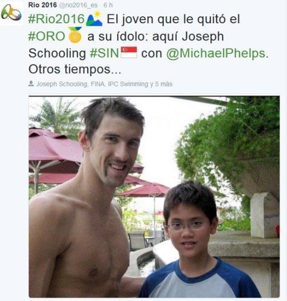 Phelps y Schooling hace 8 años