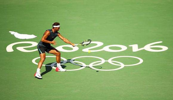 Rafa Nadal en sus entrenamientos en Río de Janeiro. Foto: Clive Brunskill/ Getty Images.
